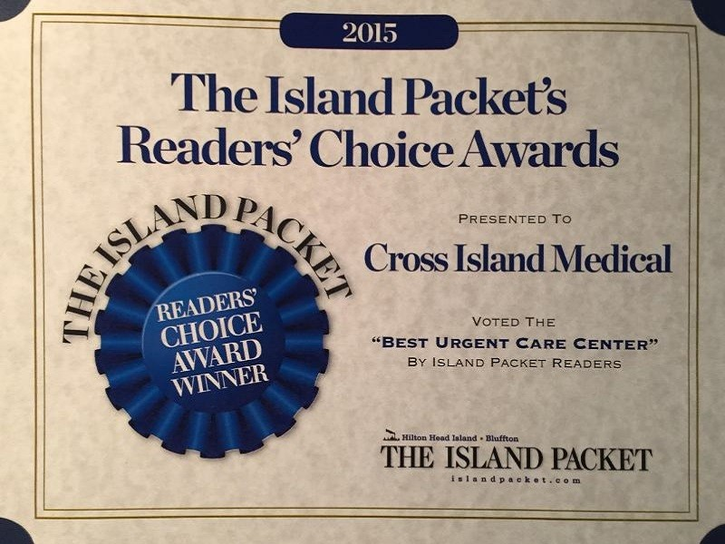 Island Packet Readers Choice Award - Cross Island Medical Center