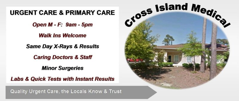 Cross Island Medical Center, 19 Moss Creek Village, Unit D, Hilton Head, SC 29926
