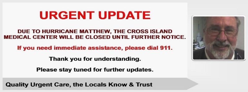 Hurricane Matthew Update, Cross Island Medical